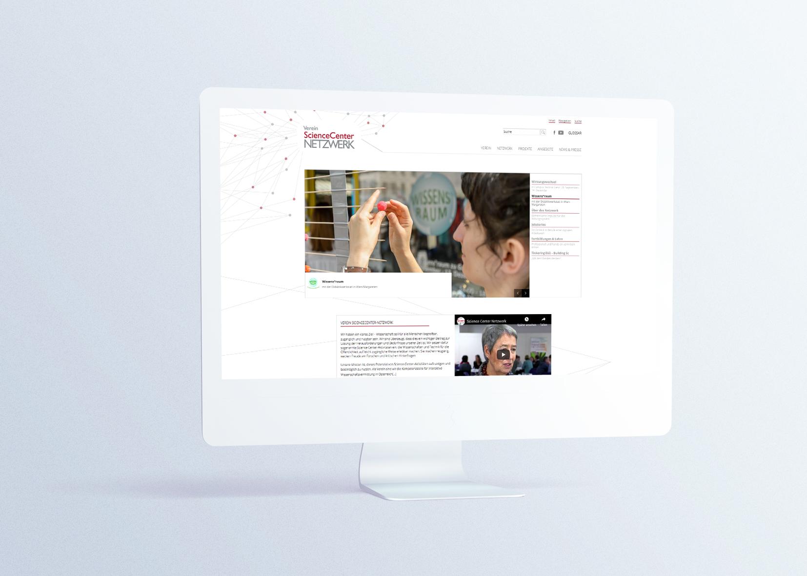 website relaunch science-center-netzwerk