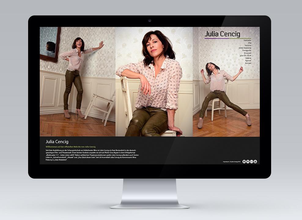 Julia Cencig - Screendesign