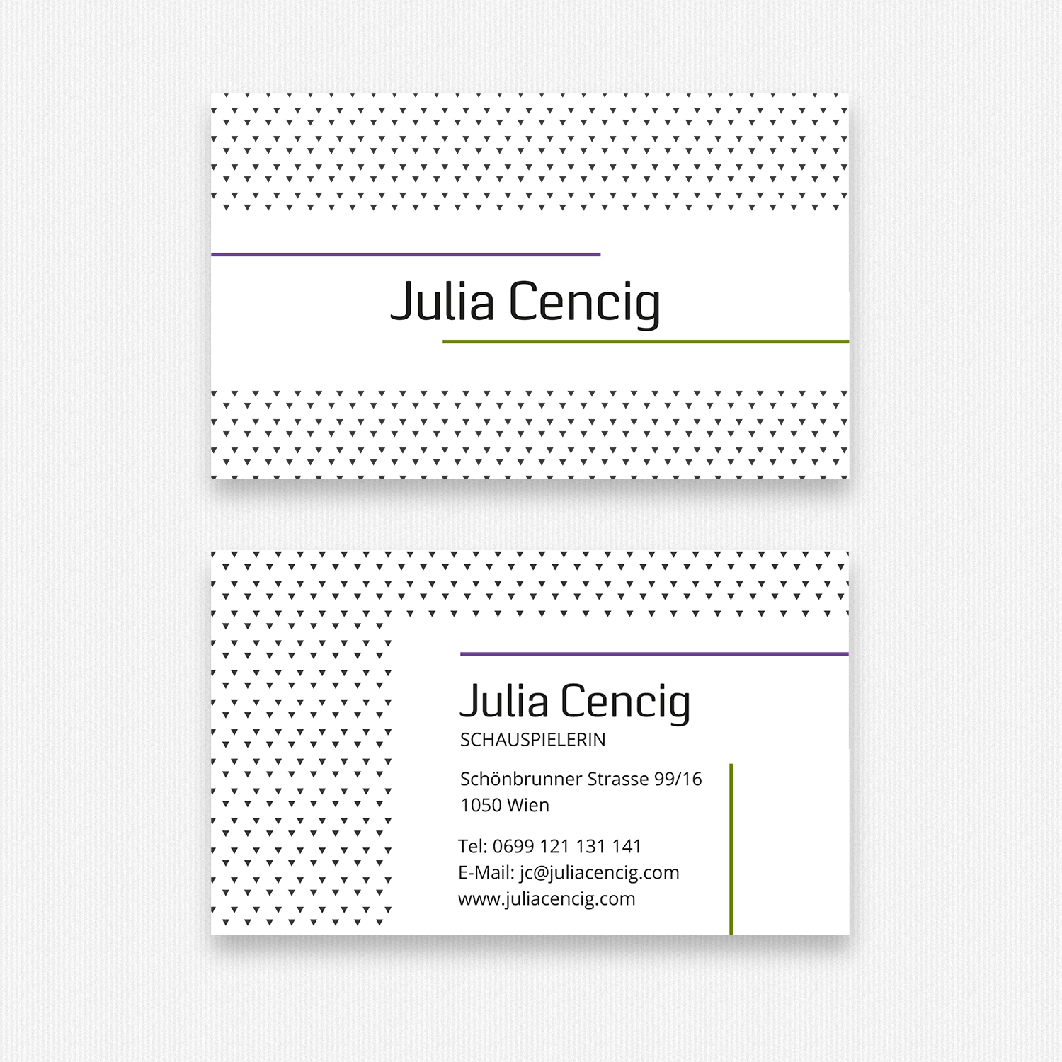 Julia Cencig - Business Cards