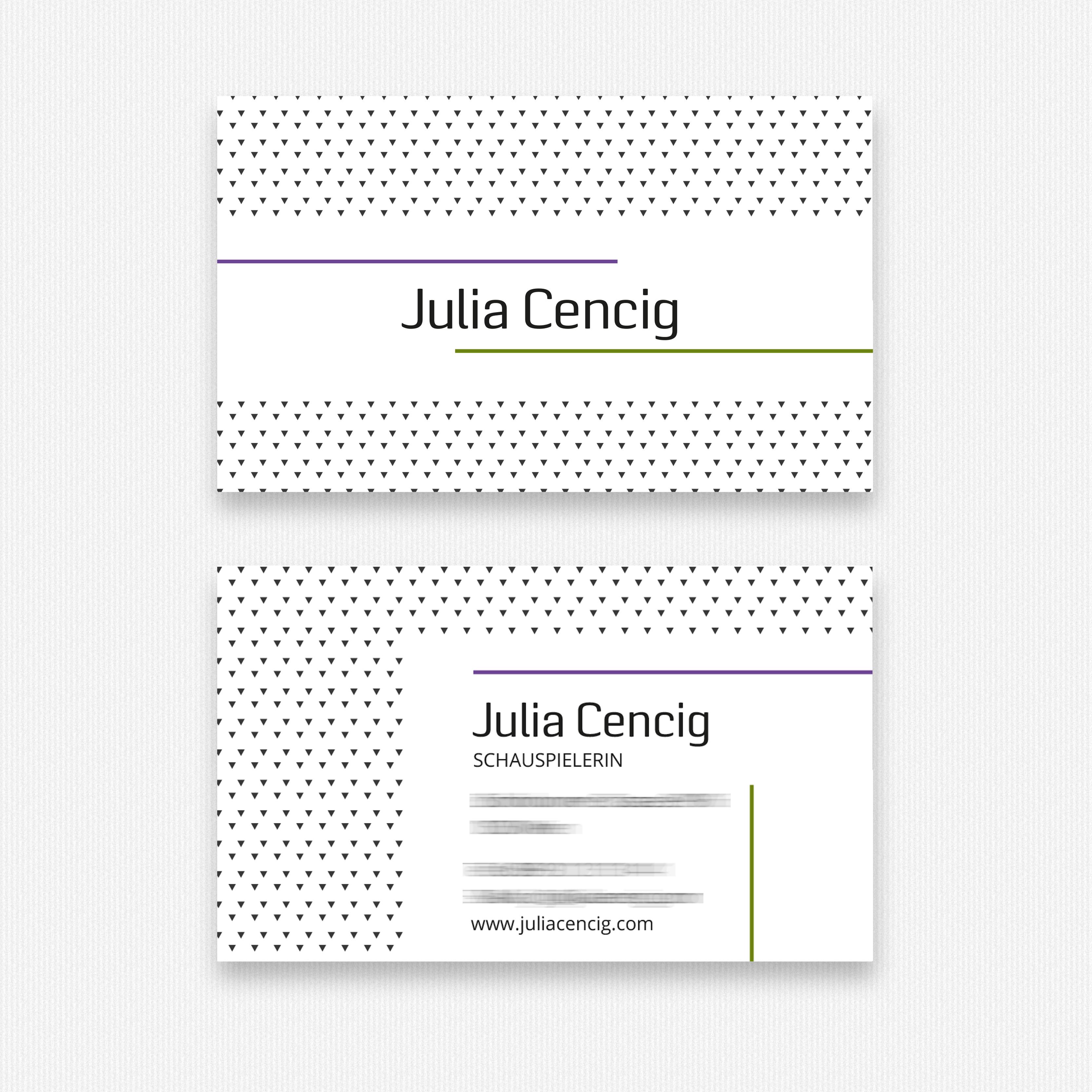 Visitenkarten Julia Cencig