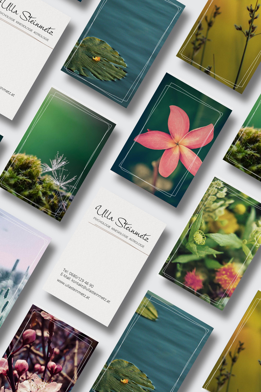 Visitenkarten mit unterschiedlichen Rückseiten - Ulla Steinmetz