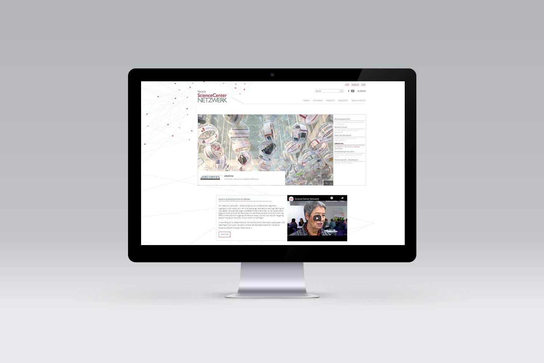 Website für ScienceCenter-Netzwerk
